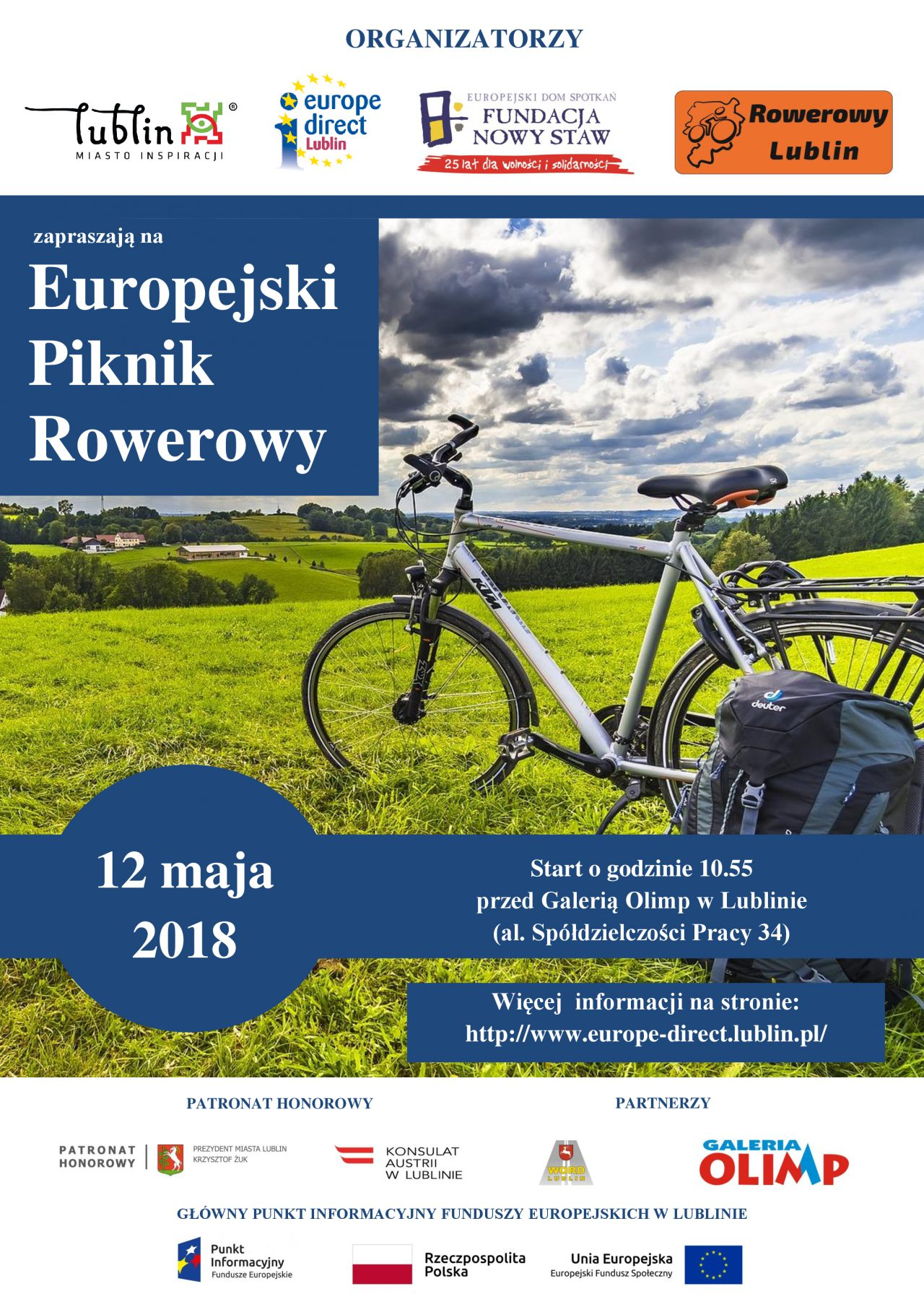 Zaproszenie Na Europejski Piknik Rowerowy Lublin112pl Wiadomości