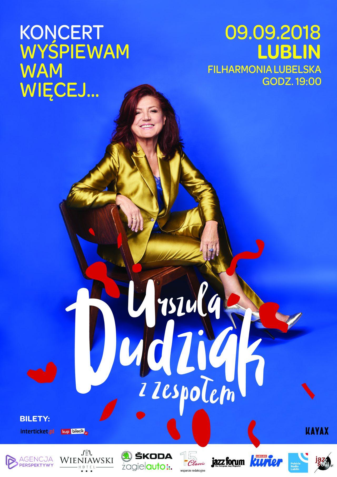 Urszula Dudziak w Lublinie plakat